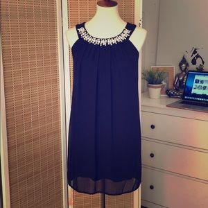 Sweet Storm dark blue cocktail dress
